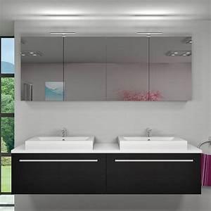 Badezimmer Spiegelschrank Günstig : spiegelschrank badspiegel badezimmer spiegel city 200cm esche schwarz ~ Markanthonyermac.com Haus und Dekorationen