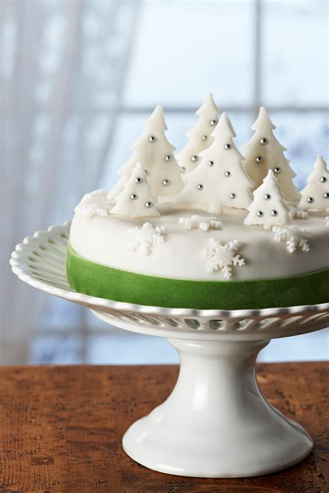 couture craft christmas tree forest cake decoration