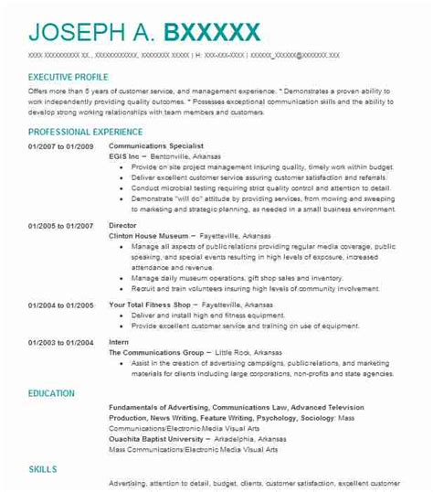 Communications Resume by Best Communications Specialist Resume Exle Livecareer