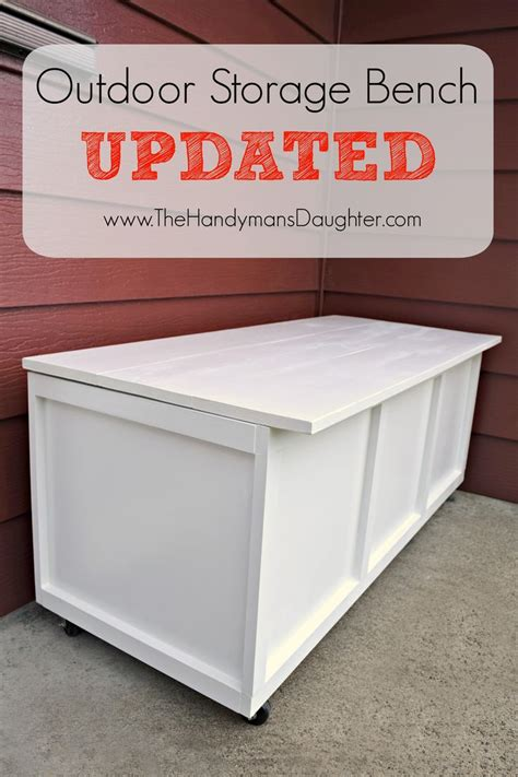 1000 ideas about outdoor storage benches on