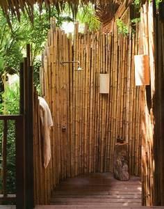 18 tropical and natural outdoor shower ideas small house With katzennetz balkon mit camping les méditerranées beach garden