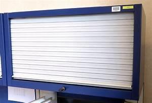 Armoire Metallique Suspendue A 1 Rideau Coulissant