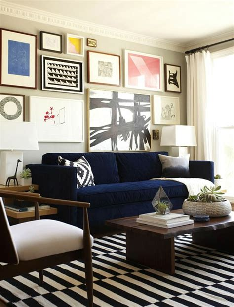 Living Room Design Blue Sofa by Blue Sofa 50 Interior Design Ideas With Sofa In Blue