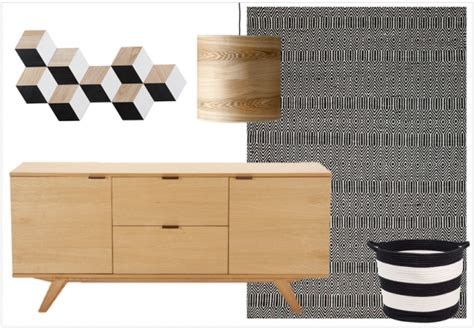 plaid blanc pour canapé bois noir et blanc le trio déco gagnant joli place