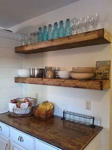 20 diy floating shelves shelves kitchens and walls With why choosing floating kitchen wall shelves