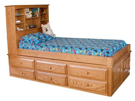 mission captain s bed indiana amish bed custom made