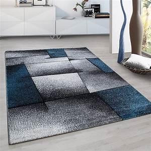 Tapis Salon Design : tapis fris e effet 3d design moderne blue turquoise gris noir harlequin ~ Teatrodelosmanantiales.com Idées de Décoration