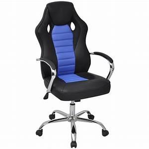 Chaise De Bureau Bleu : acheter vidaxl chaise de bureau en cuir artificiel bleu ~ Teatrodelosmanantiales.com Idées de Décoration