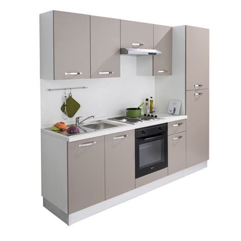 cuisine compl 232 te all in 2 m 233 lamin 233 taupe 201 lectrique