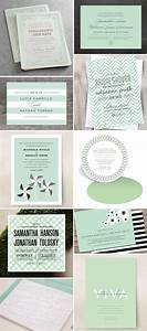 wedding invitation color trend mint green invitation crush With wedding invitation designs mint green