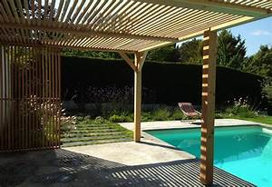 Pergola bois contemporaine cobtsacom for Pergola contemporaine bois