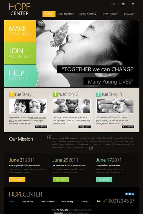 charity templates templatemonster  website