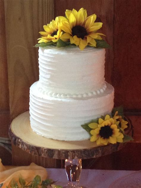 6 And 8 Chocolate Layer 2 Tier Wedding Cake Rustic Iced