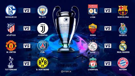Best bets for manchester city in champions league final vs. Champions League 2018-19 - Sorteo de octavos: Horarios y ...