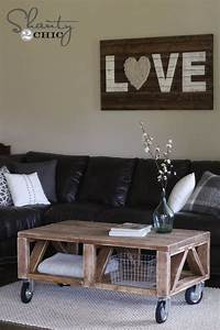17 best ideas about coffee table with wheels on pinterest for Coffee table with wheels and storage