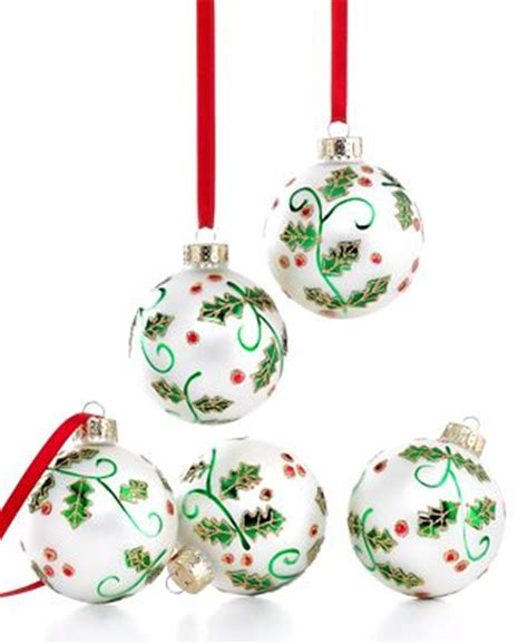martha stewart collection ornaments box of 5 white macy s