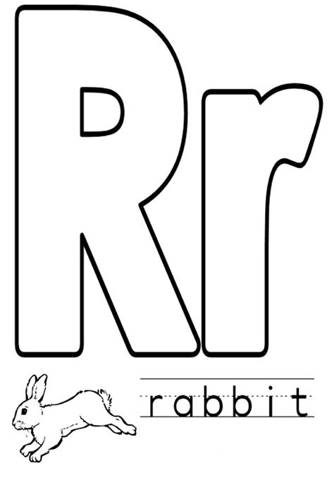 Coloring Letter R by Letter R Coloring Pages To And Print For Free