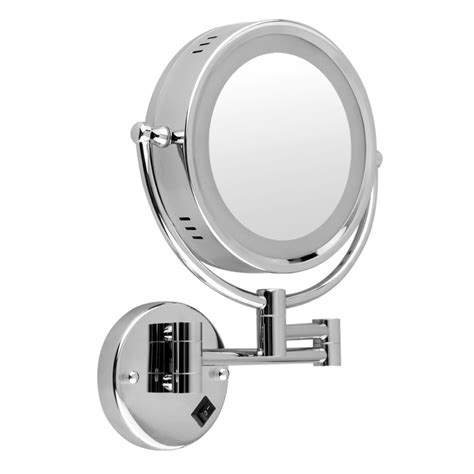 10x Magnification Led Lighted Wall Mount Makeup Mirror Led