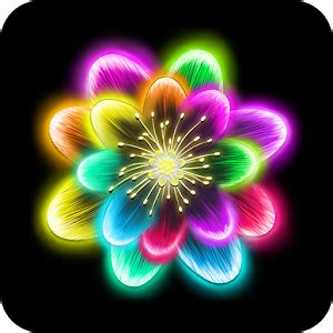 Neon Light Live Wallpaper by Neon Flowers Livewallpaper Android Apps On Play