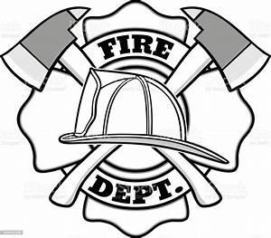 Firefighter Badge Illustration Stock Illustration