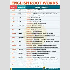 Root Words Boost Your English Vocabulary With 45 Root Words  My English Tutors