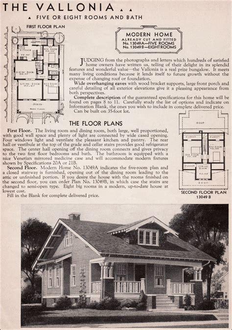 sears modern homes kit house  vallonia craftsman bungalow