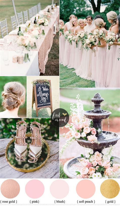 blush wedding colour for garden wedding