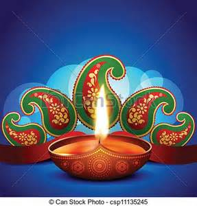 eps vector of artistic diwali background beautiful artistic diwali diya csp11135245