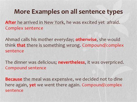 types  sentences prezentatsiya onlayn