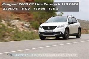 Nouvelle 2008 Peugeot Boite Automatique : essai peugeot 2008 restyl gt line puretech 110 eat6 actu automobile ~ Gottalentnigeria.com Avis de Voitures