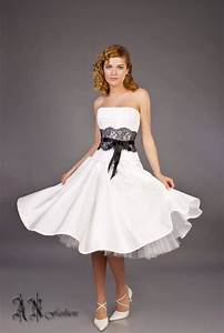black white a line wedding dress short wedding dress tea With black and white short dresses for weddings
