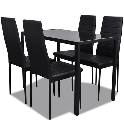 table cuisine 4 chaises vidaxl co uk contemporary dining set with table and 4