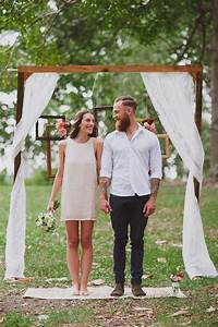 25 chic and easy rustic wedding arch ideas for diy brides With simple small wedding ideas