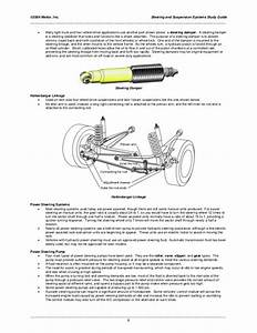 Studyguide Suspension And Steering