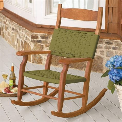 woven rope outdoor rocking chair traditional outdoor rocking chairs by brookstone
