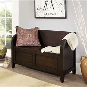 Simpli, Home, Connaught, Wood, Storage, Entryway, Bench, U0026, Reviews