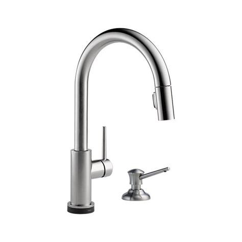 Delta Trinsic Kitchen Faucet Touch2o by 9159t Ar Dst Trinsic 174 Single Handle Pull Kitchen