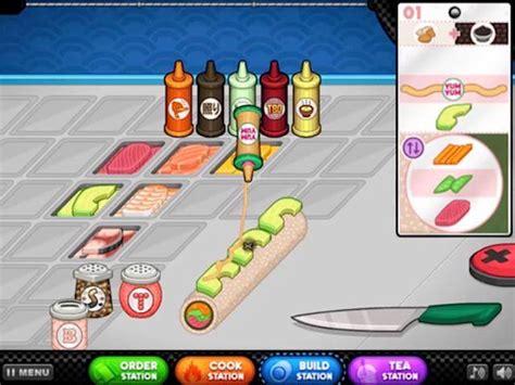 jeux de cuisine de papa louis gratuit joue à papa 39 s sushiria gratuit sur pomu fr