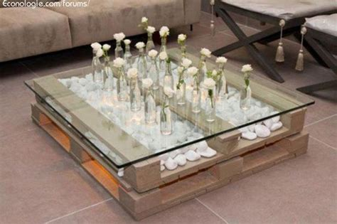 Table basse palette et verre - Allovitres le blog du00e9co