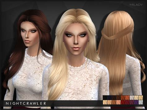 nightcrawler sims nightcrawler milady sims  hair