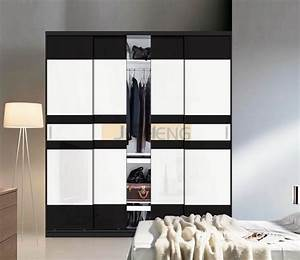 modern wardrobes design with classic black and white color