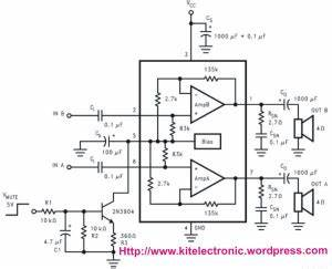 lm4752 stereo 11w audio power amplifier kit With stereo audio power amplifier 11w using lm4752