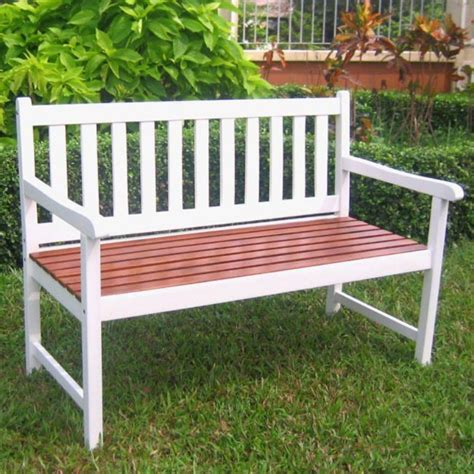 Solid Wood Outdoor Bench In Outdoor Benches