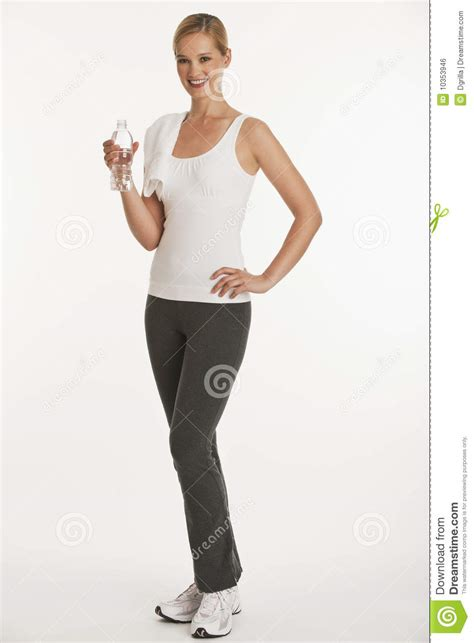 vertical towel in workout clothes royalty free stock image