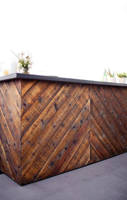 bar rustic herringbone   rental porch bar