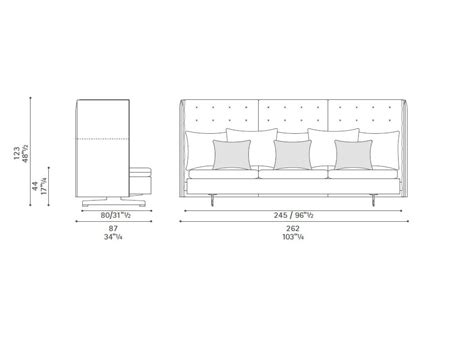 high back sofa grantorino hb by poltrona frau design jean