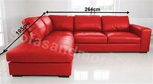 Red leather corner sofa r wall decal for Cheap red leather sectional sofa