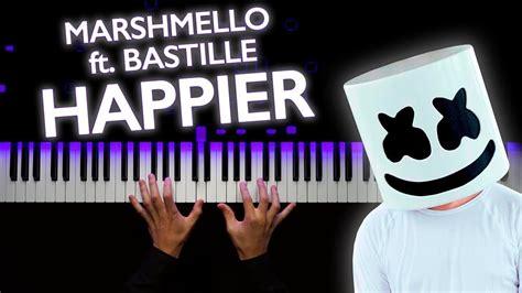 Marshmello Ft Bastille  Happier  Piano Tutorial