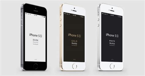 iphone 5s colors 3 4 iphone 5s psd vector mockup psd mock up templates Iphon