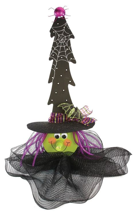 nicole crafts lighted wood tree witch halloween craft
